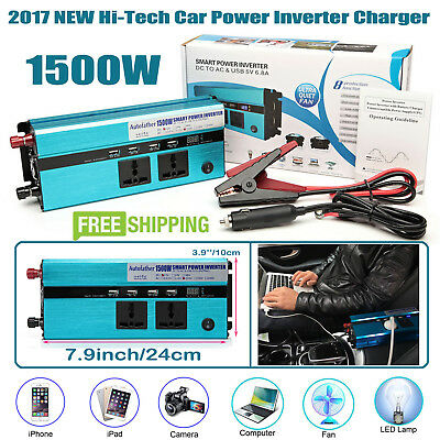 1500W/3000W Peak Power Inverter Car DC to AC For Electricity Digital Display