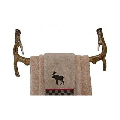 Antler Bathroom Towel Rack Rustic Deer Hunting Cabin Bath Hunter Decor Hook New