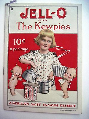 "1915 ""Jell-O and The Kewpies"" Recipe Booklet w/Darling Pictures of The Kewpies *"