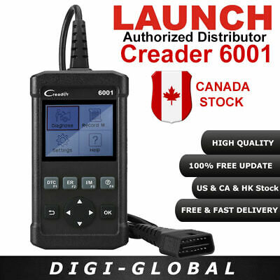 Newest LAUNCH CReader 6001 OBD2/EOBD Scanner Read Clear DTCs Data Record MIL UPS