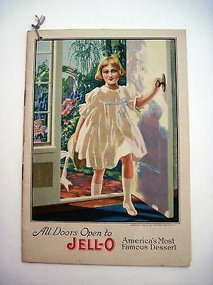 """1917""""Jell-O Famous Friends of Jell-O"""" Recipe Booklet w Pictures of Famous Women*"""