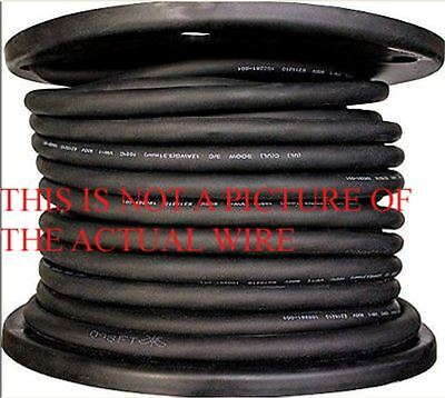 New 50' 6/3 Soow So Soo  Black Rubber Cord Extension Wire