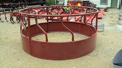 S-bar round bale hay ring  with skirted sides