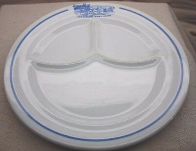 Vintage Greyhound Post House Restaurant China Divided Plate