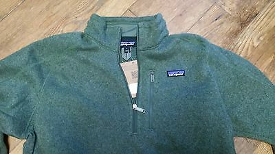 Patagonia Better Sweater 1/4 Quarter Zip Size L Green NWT