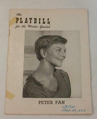 "VINTAGE Mary Martin ""PETER PAN"" Cyril Ritchard 1954 Broadway Playbill CLEAN"