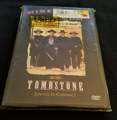 Tombstone DVD with Kurt Russell and Val Kilmer Like New!