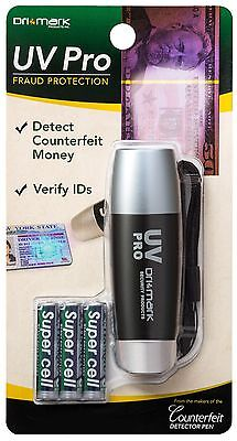UV Counterfeit Money Detector Drimark UVPROPLUS-B Comes with 3 AAA Batteries