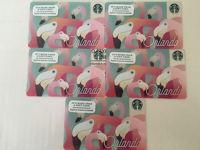Starbucks Orlando card 2016 new release  hard to find set of 5