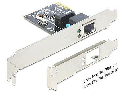 PCI Express Karte, Gigabit Lan 1x + LowProfile, Delock® [89357]