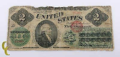 1862 $2 United States Note AG/G Condition Chittenden/Spinner #25360