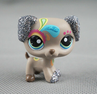 Littlest Pet Shop LPS #2344 Dalmatian Dog Gift Glitter Puppy Sparkle Tattoo Toys