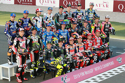 The MotoGP Grid 2017 - A1/A2/A3/A4 Photo / Poster Print - Qatar