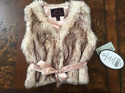 Lilly Patricia Faux Fur Toddler Vest Girls Size 3-4T NEW