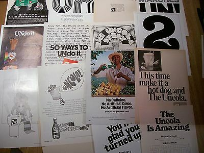 7up SEVEN-UP Magazine ADS from 1970's Lot of 15 ADS