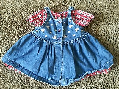 Class Club Baby*2pc Dress Set*Baby Girl 6-9m*EUC