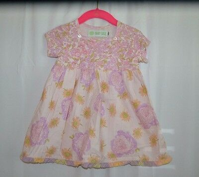 Baby Lulu Girls Floral Dress Pink/Peach Size 12months