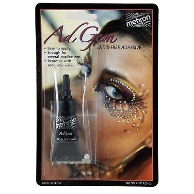 Mehron AdGem Skin Adhesive with Rhinestones Latex Free Body Face Makeup Jewels