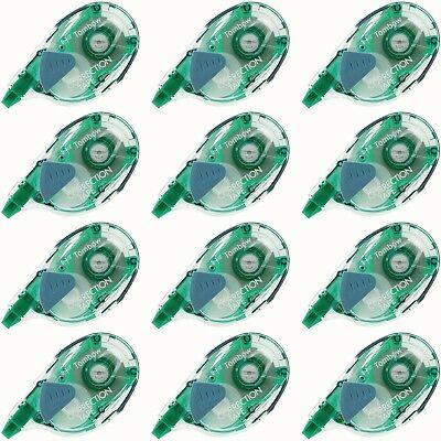 (Lot of 12) Tombow MONO Refillable Correction Tape 68665, 1/6 in x 472 in