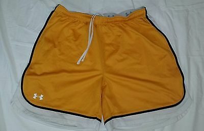 Under Armour Heat Gear Men's Yellow Basketball Shorts Size Small