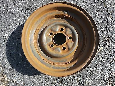 1956 Cadillac Original Steel Wheel In Good Condition, One Year Only!