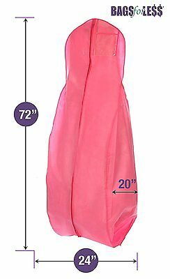 X-large Breathable Pink Wedding Gown Garment Bag