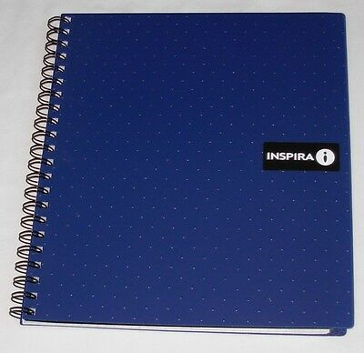 """New Quad Ruled Graph Paper Spiral Notebook 8 1/2"""" x 11"""" Blue 100 Sheets"""