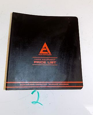Vintage Ac Allis Chalmers Parts Price List Binder