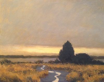Marsh Creek Country Landscape OIL PAINTING ART IMPRESSIONIST Large 20x16