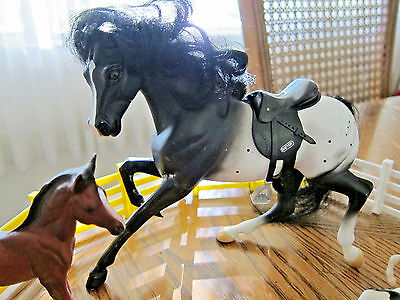 Mixed Lot 7 Breyer Horse Pony Stablemates Classic Model Farm Animal Toy & Access