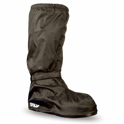 Fly Racing Adult Black Rain Boot Covers Motorcycle Rain Suit Gear - Pick Size