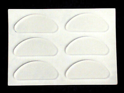 Optical Silicone Half Moon Self Adhesive Eyeglass Nose Pads - Clear (3 Pair)
