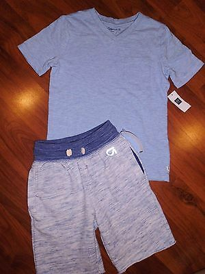4 5 T GAP KIDS 2pc Blue Tee Shirt Sweat Shorts Outfit New XS Toddler Boy NWT