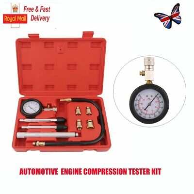 Car Gas Petrol Engine Cylinder Compression Pressure Leak Down Leakage Tester Kit
