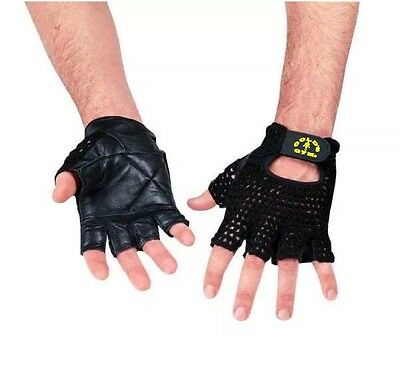 Gold's Gym  Mesh Back Leather Weight Lifting Training Gloves
