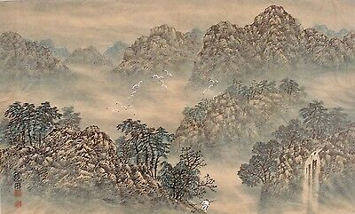 Chinese Art Gouache Painting Watercolor Asian Home Decor Signed 01338