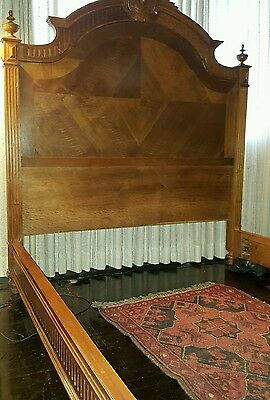 PRICE REDUCED Antique bed frame French,  Louie 15 century.  We have armoire too