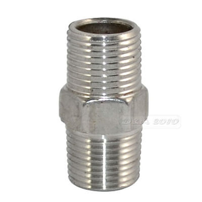 "1PC 3/8""Malex3/8""Male Hex Nipple Stainless Steel SS304 Threaded Pipe Fitting NPT"