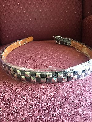 Girls Silver/Black Pyramid Studded Belt Size L 28-30 Inch New