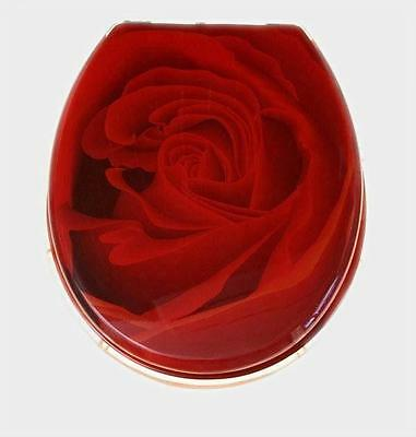 Loo with a View - Red Rose Poly Resin Decor Toilet Seat, EU57