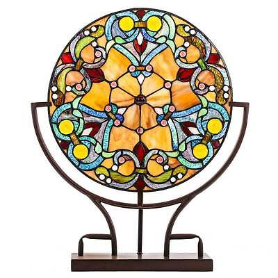 Stained Glass Lamp Table Desk Tiffany Style Art Decor Lighting Light Handcrafted