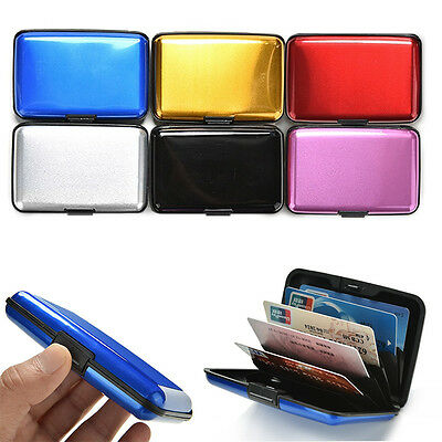 New Aluminum Metal Credit Card Holder Anti-RFID Scanning Hard Case Wallet Unisex