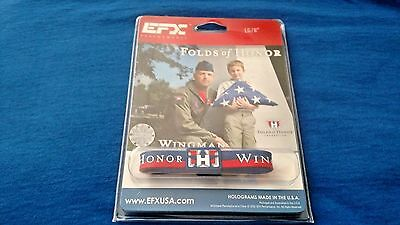 EFX Bracelet Wristband / Golf /Bowling/Sports/Authentic!! FOLDS OF HONOR 8""