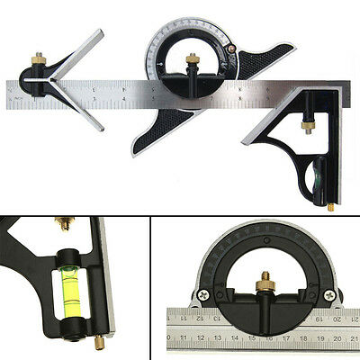 "12"" Engineers Combination Square Set Angle Finder Protractor & Measuring Ruler"