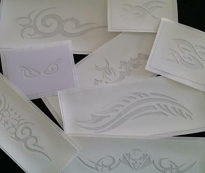 TRIBAL  AIRBRUSH TATTOO STENCILS choose the ones you want. End of stock sell out