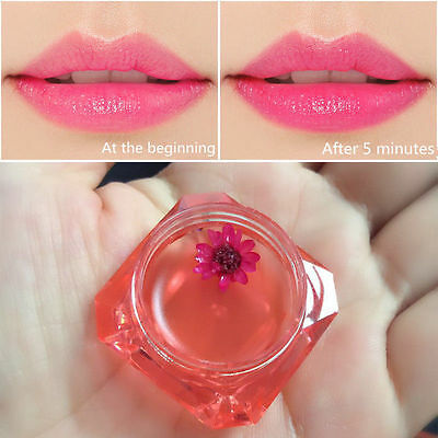 Pink Color Flower Waterproof Liquid Jelly Lipstick Long Lasting Lip Gloss Makeup