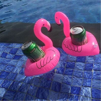1PC Inflatable Unicorn Flamingo Donuts Float Drink Beer Cup Swimming Pool Holder