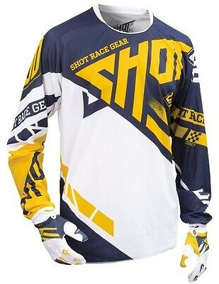 SHOT Race Gear 2017 Raceway Jersey Mens All Sizes Colors Yellow/Blue Small