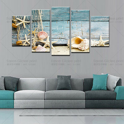 HD Canvas Print Home Decor Wall Art Painting Picture-Sea shell starfish beach