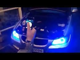 Angel eyes MULTICOULEURS LED BMW serie 5 6 7 X3 X5 BLUETOOTH / WIFI
